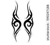 tattoo tribal vector designs.... | Shutterstock .eps vector #590247188
