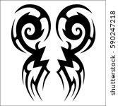 tattoo tribal vector designs.... | Shutterstock .eps vector #590247218