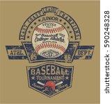 vintage baseball vector artwork ... | Shutterstock .eps vector #590248328