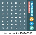 health care icon set clean... | Shutterstock .eps vector #590248580