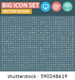 big icon set clean vector | Shutterstock .eps vector #590248619