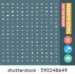 website icon set clean vector | Shutterstock .eps vector #590248649