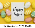 seasonal easter message with... | Shutterstock . vector #590251490