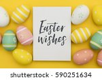 seasonal easter message with... | Shutterstock . vector #590251634