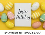 seasonal easter message with... | Shutterstock . vector #590251700