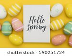 seasonal easter message with... | Shutterstock . vector #590251724