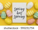 seasonal easter message with... | Shutterstock . vector #590251754