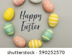 seasonal easter message with... | Shutterstock . vector #590252570