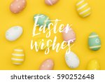 seasonal easter message with... | Shutterstock . vector #590252648