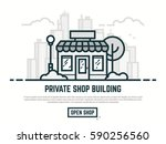 online store building. big city ... | Shutterstock .eps vector #590256560