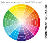 vector color spectrum  itten 12 ... | Shutterstock .eps vector #590256608