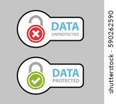 data protected unprotected... | Shutterstock .eps vector #590262590