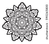 mandala. vintage decorative... | Shutterstock .eps vector #590265800