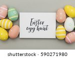 seasonal easter message with... | Shutterstock . vector #590271980