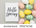 seasonal easter message with... | Shutterstock . vector #590276768