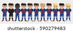 vector character football team | Shutterstock .eps vector #590279483