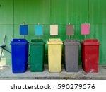 garbage bin | Shutterstock . vector #590279576