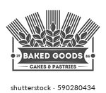 bakery shop vintage isolated... | Shutterstock .eps vector #590280434