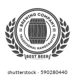 beer pub vintage isolated label ... | Shutterstock .eps vector #590280440