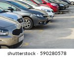 cars in the parking lot | Shutterstock . vector #590280578