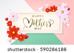 mothers day typographical... | Shutterstock .eps vector #590286188