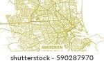 detailed vector map of aberdeen ... | Shutterstock .eps vector #590287970