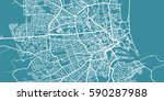 detailed vector map of aberdeen ... | Shutterstock .eps vector #590287988