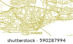 detailed vector map of dundee... | Shutterstock .eps vector #590287994