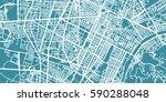 detailed vector map of torino ... | Shutterstock .eps vector #590288048