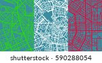 detailed vector map of milan... | Shutterstock .eps vector #590288054