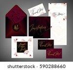 tony wedding invitation suite... | Shutterstock .eps vector #590288660