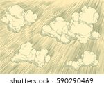 clouds in the sky. hand drawn... | Shutterstock .eps vector #590290469