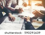 Stock photo business people meeting design ideas concept business planning 590291639