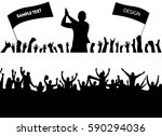 backgrounds from the crowd | Shutterstock .eps vector #590294036