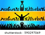 background with cup champion...   Shutterstock .eps vector #590297069