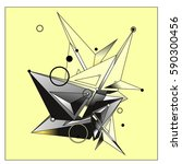 vector of triangle fractal... | Shutterstock .eps vector #590300456