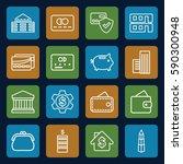 bank icons set. set of 16 bank... | Shutterstock .eps vector #590300948