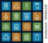 recycle icons set. set of 16... | Shutterstock .eps vector #590301134