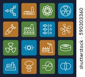 nuclear icons set. set of 16... | Shutterstock .eps vector #590303360