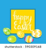happy easter spring holiday... | Shutterstock .eps vector #590309168