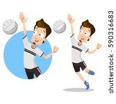 volleyball player sportsman...   Shutterstock .eps vector #590316683