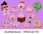 brain stickers fitness... | Shutterstock .eps vector #590316770