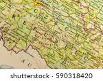 geographic map of european... | Shutterstock . vector #590318420