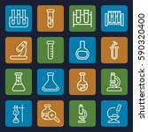 lab icons set. set of 16 lab... | Shutterstock .eps vector #590320400