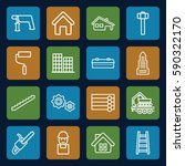 construction icons set. set of... | Shutterstock .eps vector #590322170