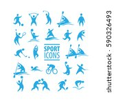 set of sport icons | Shutterstock .eps vector #590326493