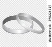 silver metal wedding rings