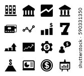 finance icons set. set of 16... | Shutterstock .eps vector #590331350