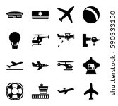 air icons set. set of 16 air... | Shutterstock .eps vector #590333150
