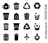 recycle icons set. set of 16... | Shutterstock .eps vector #590337338